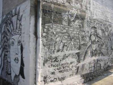 Abbildung Volkstümliche Graffiti, Col. Pedregal de Santo Domingo, Del. Coyoacán, México D.F., 2004